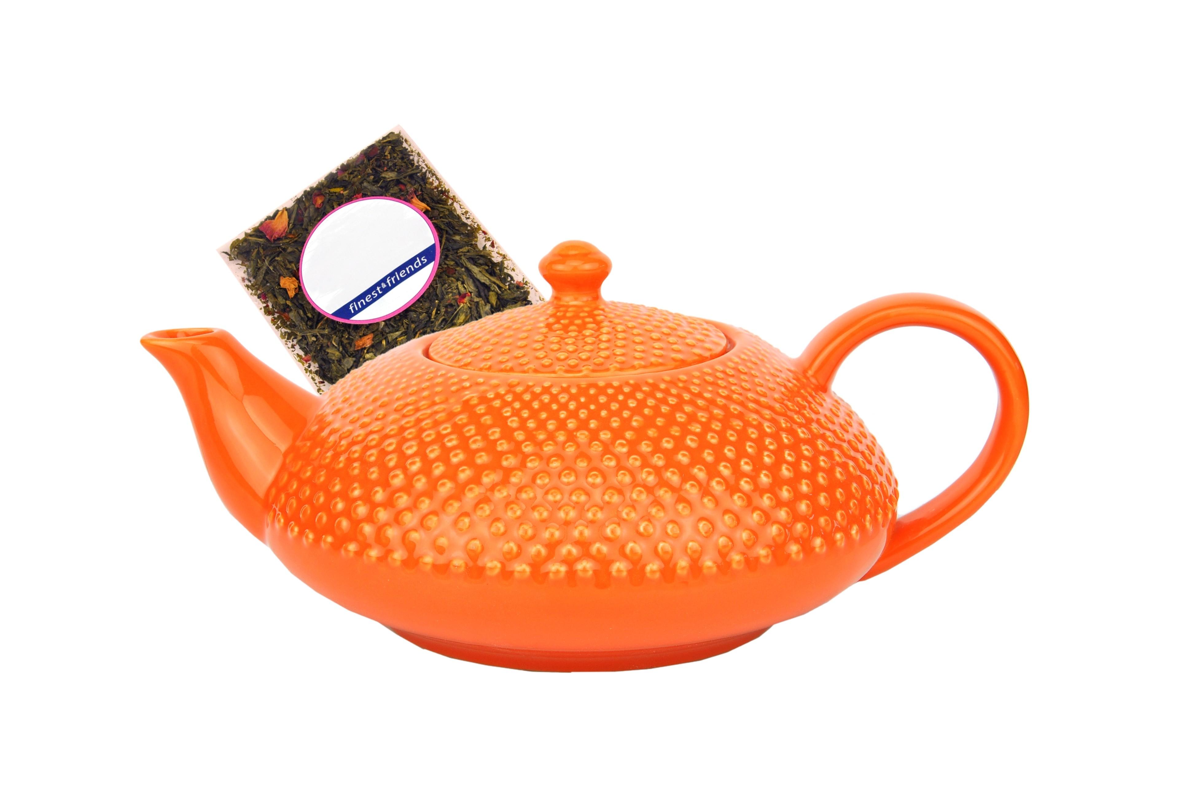 japanische teekanne keramik shikoku 0 75l orange jameson tailor 3690 teeprobe porzellan. Black Bedroom Furniture Sets. Home Design Ideas