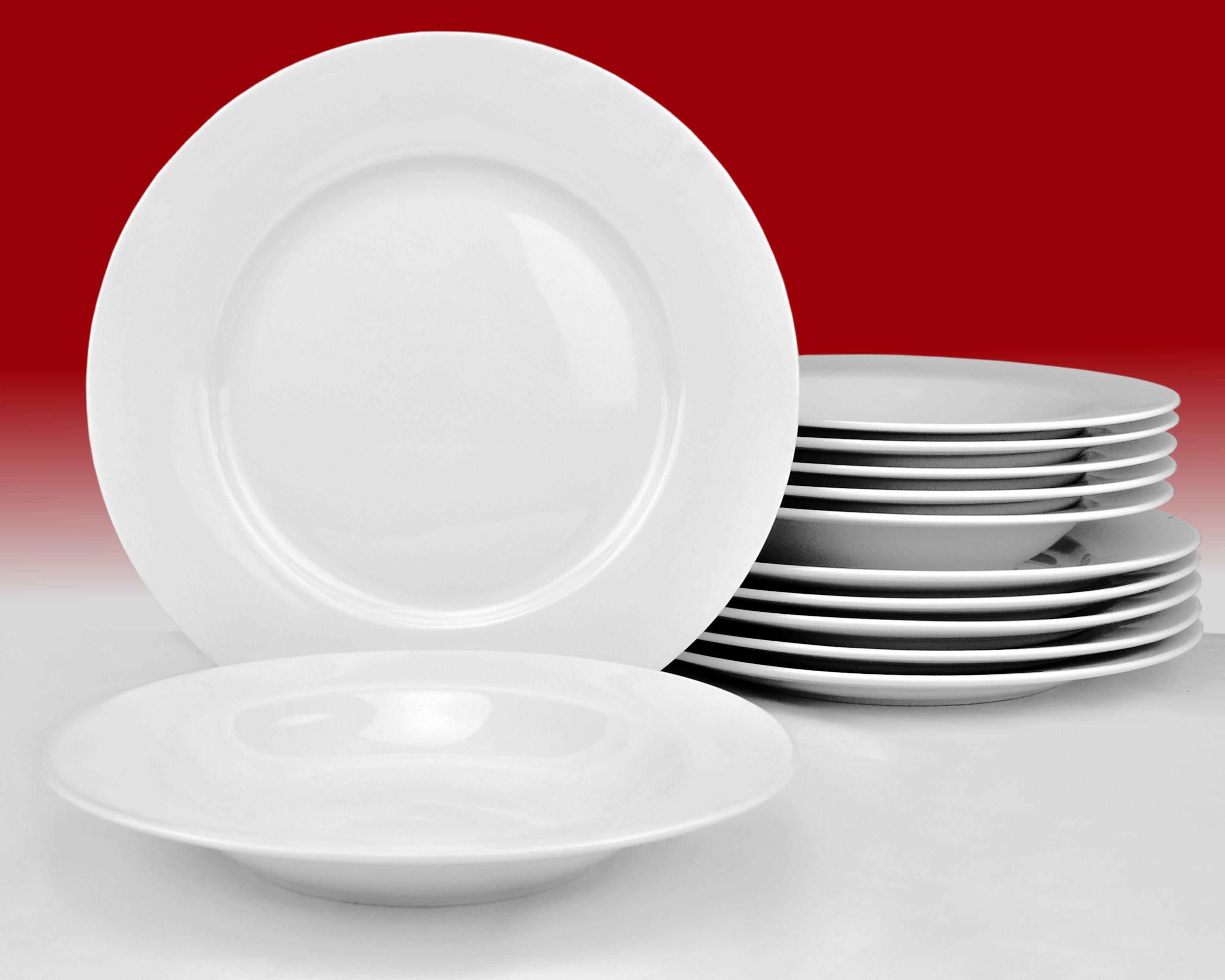 tafelservice annabelle 24tlg f r 12 personen porzellan tafelservice ohne dekor. Black Bedroom Furniture Sets. Home Design Ideas