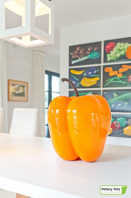 Dekopaprika S Orange Paprika Gemüse Dekoration Gartendeko Dekogemüse Fiberglas
