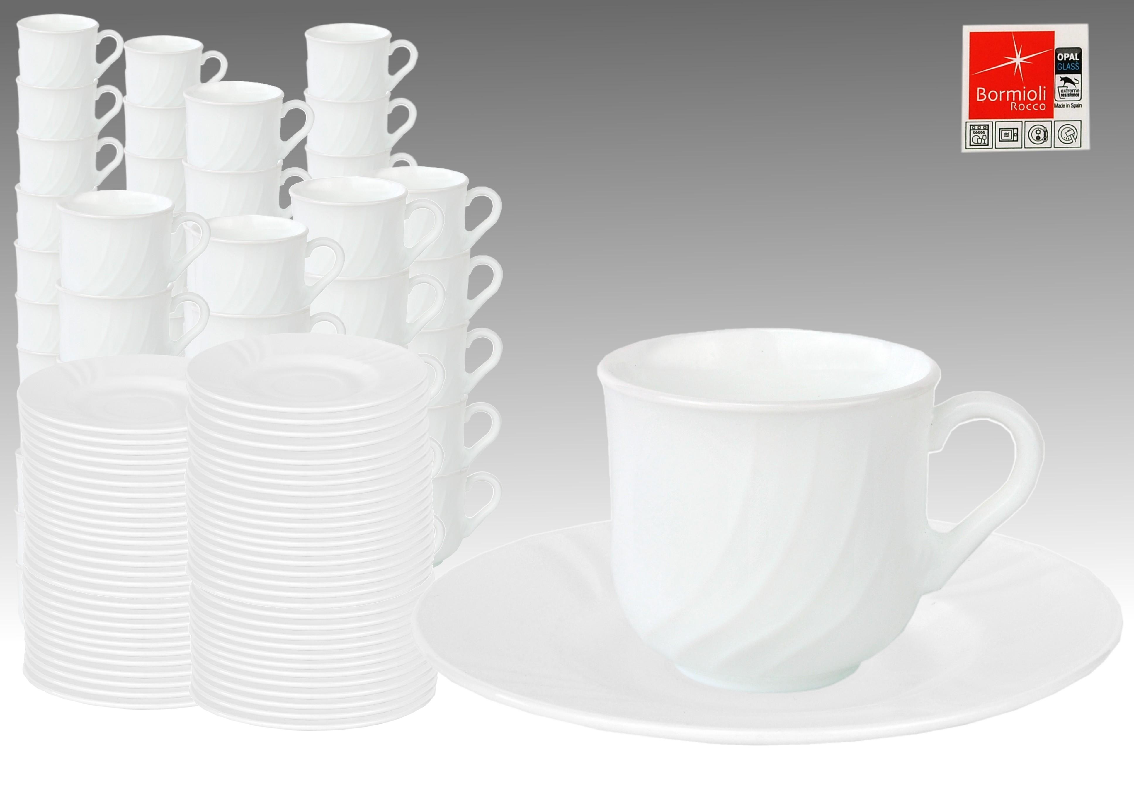 60er set kaffeetasse 25cl mit untertasse 15 5cm ebro aus opal hartglas porzellan tassen und becher. Black Bedroom Furniture Sets. Home Design Ideas