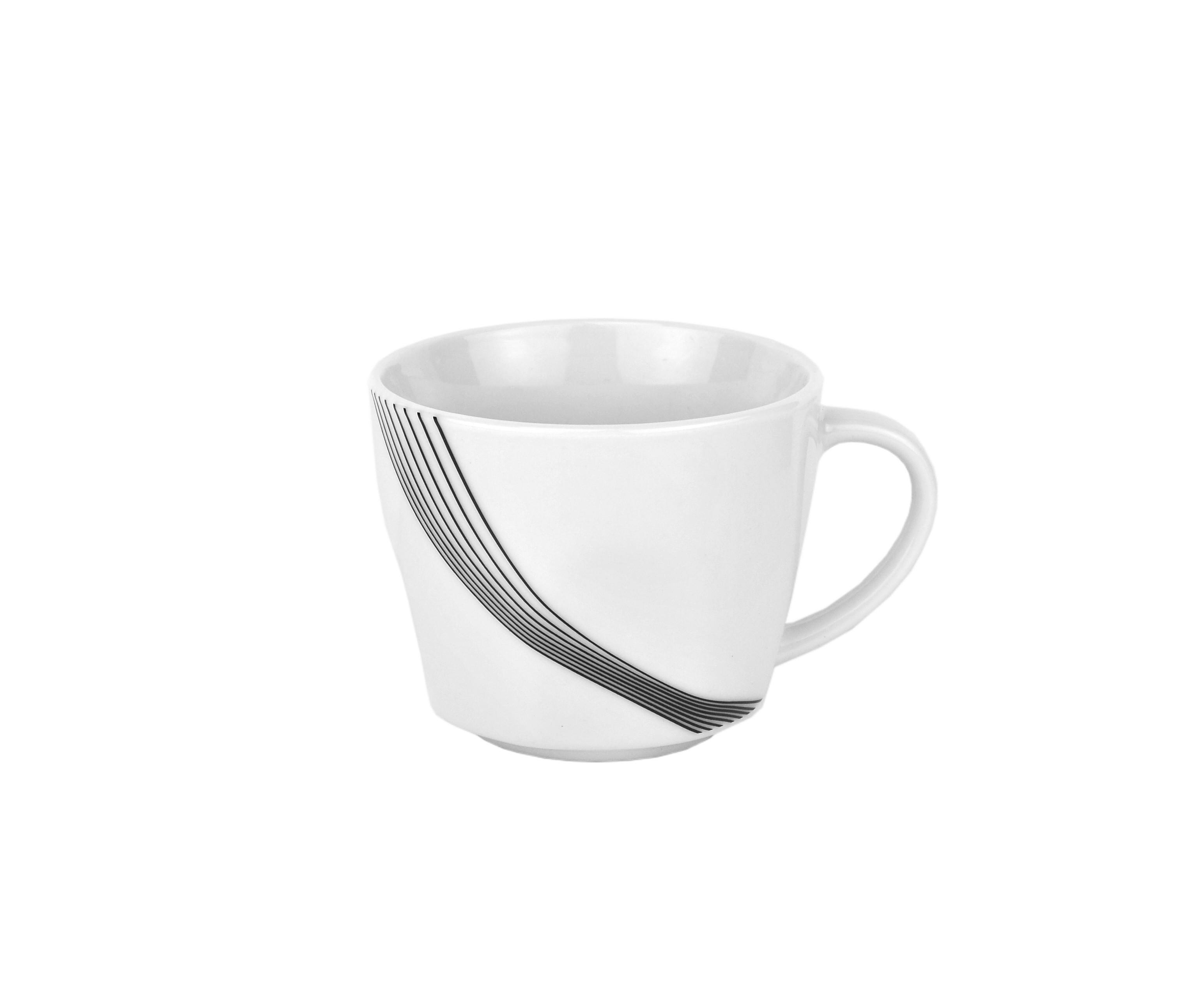 kaffeeservice 36 tlg impulse eckig porzellan 12 personen wei mit dekor tassen ebay. Black Bedroom Furniture Sets. Home Design Ideas