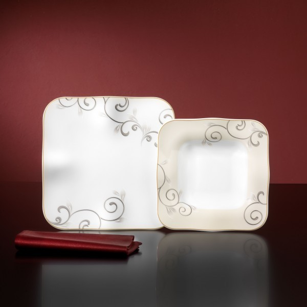 tafelservice chateau 24 teilig porzellan 12 personen tafel geschirr service ebay. Black Bedroom Furniture Sets. Home Design Ideas