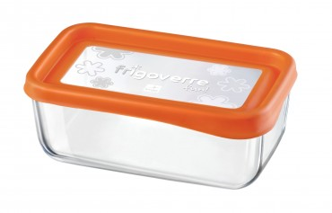 2er Set Frischhaltedose Frigoverre Fun 21x13cm Glas Orange – Bild 2