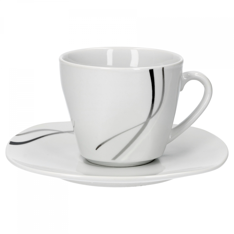 kaffeeservice silver night 36tlg f r 12 personen. Black Bedroom Furniture Sets. Home Design Ideas