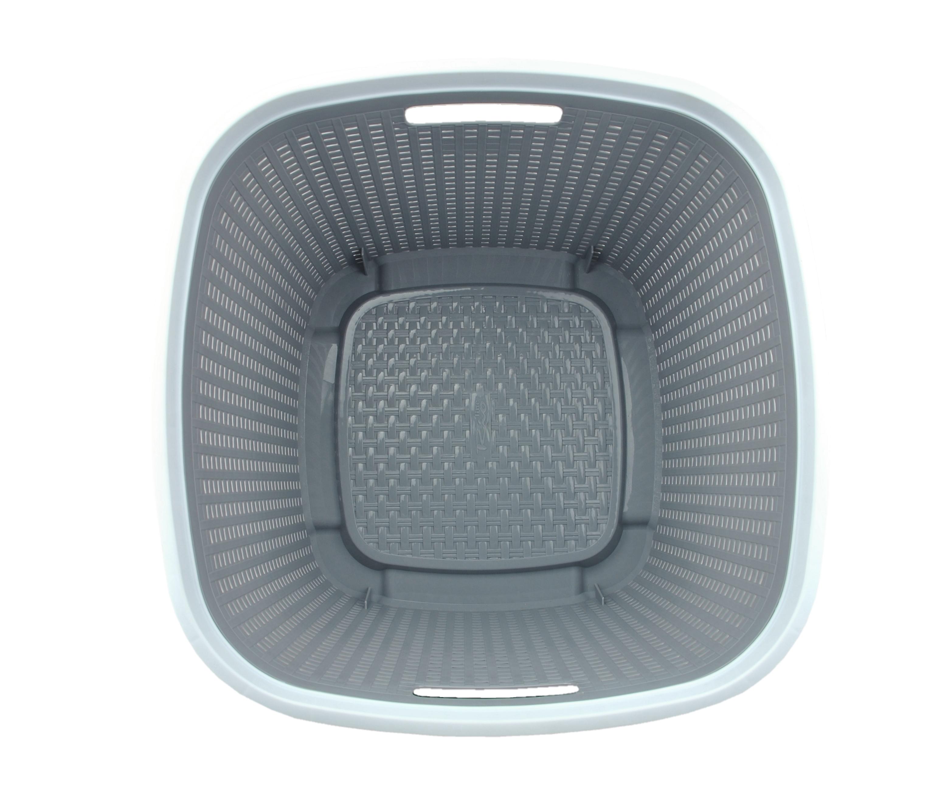w schekorb rio grau wei kunststoff 43 5x43 5x33 5cm. Black Bedroom Furniture Sets. Home Design Ideas