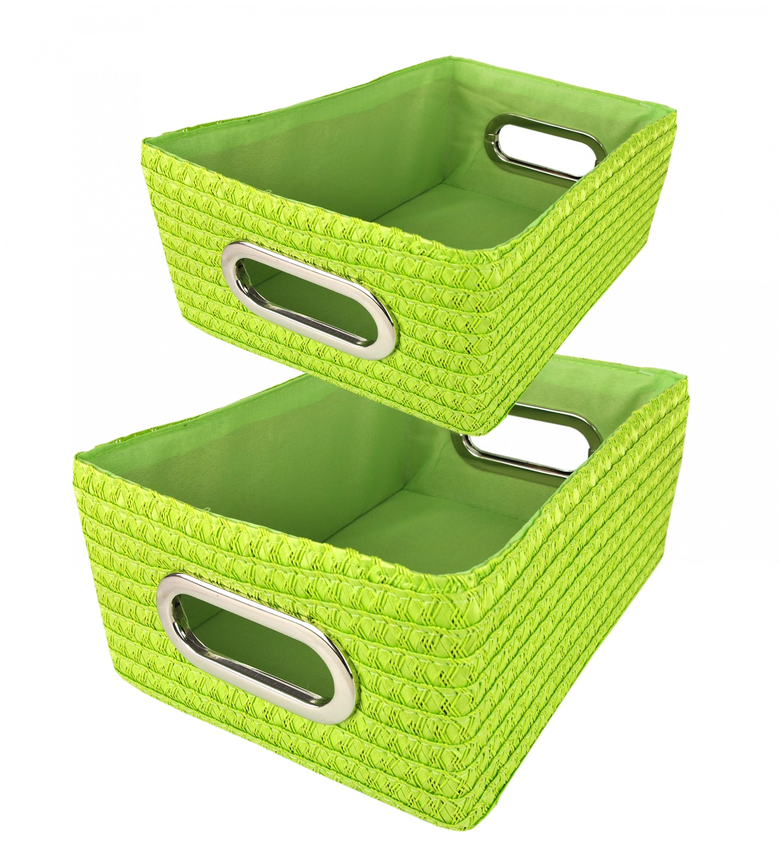 2 tlg korb set rimossa gr n kunststoff 28x20x12cm 31x23x14cm 22988 22989 sonstige. Black Bedroom Furniture Sets. Home Design Ideas